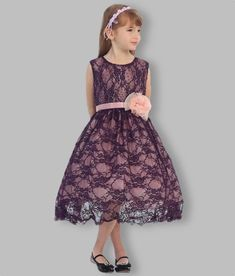 Girls Beaded lace party dress with sash and flower. Plum colour lace overlay with pink underlay. Tea length, available in sizes Free delivery Lace Party Dresses, Lace Dress, Formal Dresses, Dresses For Tweens, Plum Color, Tea Length, Beaded Lace, Lace Overlay, Special Occasion Dresses