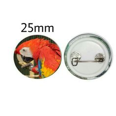 Scarlet Macaw 25mm Button Pin Badge (PG-01030)