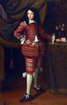 Lombard School - PORTRAIT D'UNE JEUNE INFANTE  PORTRAIT OF A BOY, TRADITIONALLY SAID TO BE LORENZO ONOFRIO COLONNA  SPANISH SCHOOL,17th Century  oil on canvas