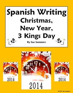 Spanish Writing Prompt - Christmas, New Year, Three Kings Day by Sue Summers. The writing prompt features querer and contains 23 suggested vocabulary words for wishes.
