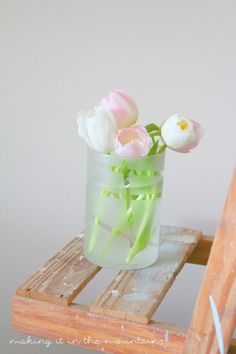 Frosted Dollar Store Vases | making it in the mountains