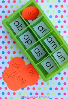 Simple, hands-on rhyming, word family, word chunk and decoding practice for kids.