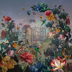 Image result for bn wallcoverings floral city
