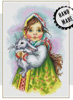 Vesta Cross Stitch Pattern #crossstitch #xstitch #DIY #pattern #girl