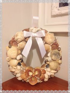 Shell wreath for my mum in law!