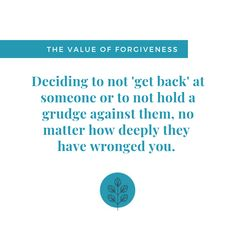 What happens when we refuse to forgive? When we continue to hold a grudge? Often it leads to feelings of bitterness and resentment. Forgiveness doesn't mean forgetting, but forgiveness can release us from the power they hold over us. Bitterness, Life Skills, Forgiveness, Hold On, Shit Happens, Feelings, Naruto Sad