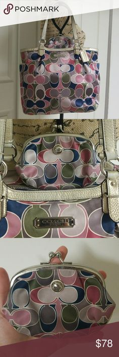 Coach Gallery Scarf Print with Coin Holder Good condition   Comes with Coin holder Coach Bags Shoulder Bags