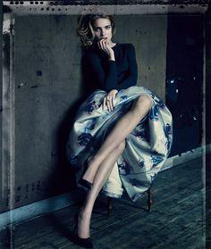 Natalia Vodianova + Dior, photographed by Paolo Roversi.