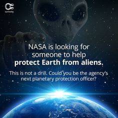 This is the coolest job in the universe. Check out the full article on Curiosity.com and in the Curiosity app! #nasa #space #alienprotection #curiosity Nasa Space, The Agency, Looking For Someone, Good Job, Curiosity, Universe, App, Check, Instagram