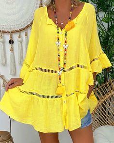 VEZAD Fashion T-Shirt Women O Neck Half Sleeve Casual Cotton Linen Loose Blouse