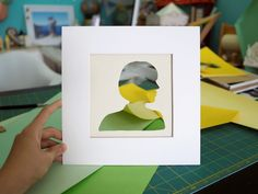 Colorful paper craft by Chao Zou