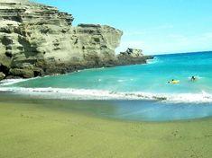 South Point (Ka Lae) and Green Sand Beach: Green Sands Beach, Papakolea Kona Hawaii 09-29-2012