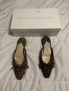 7f8160c02580 Manolo Blahnik 7 37 Leopard  fashion  clothing  shoes  accessories   womensshoes