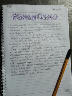 Resumos criativos ~ romantismo School Motivation, Study Motivation, Mental Map, Neat Handwriting, Bullet Journal Books, College Notes, Study Techniques, Study Pictures, How To Write Calligraphy