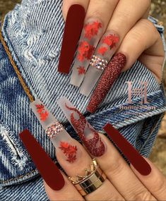 Dope Nails, Bling Nails, Fun Nails, Pretty Nails, Coffin Nails, Acrylic Nails, Thanksgiving Nails, Fall Nail Designs, Perfect Nails