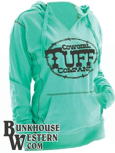 @cowgirltuffco Aqua Green Lightweight Hoodie, Cowgirl, Tuff, Rodeo, Country Girl, $39.99, http://bunkhousewestern.com/1005