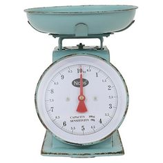 Freemont Metal Household Scale - Turquoise - Beekman 1802 FarmHouse™ : Target