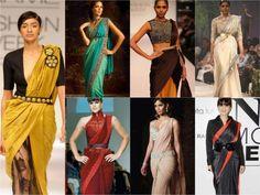 How To Wear Belts jazz up sari with belt - Discover how to make the belt the ideal complement to enhance your figure. Saree Draping Styles, Saree Styles, Saree With Pants, How To Wear Belts, Dhoti Saree, Lehenga Saree, Silk Sarees, Modern Saree, Saree Trends