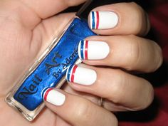 Or skip the stars altogether! | 36 Amazing DIY-Able Manicures For The 4th Of July