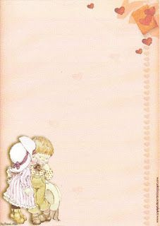 Papéis de Carta e Envelopes - Papel de Carta e Envelope - Papel de Carta e Envelope para imprimir: Sarah Kay Sarah Kay Imagenes, Lined Writing Paper, Stationary Printable, Sarah Key, Envelopes, Frame Clipart, Holly Hobbie, Scrapbook, Paper Frames