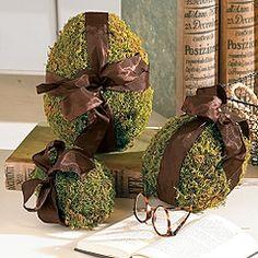 Ballard Designs...moss eggs