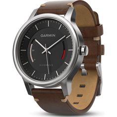 Garmin Vivomove Premium Activity Tracking Watch | Stainless Steel/Leather