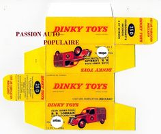 DINKY TOYS 25D CITROEN 2cv B.B. LORRAIN POMPIER DE PARIS boite repro / reprobox | eBay