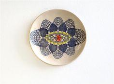 Keramik Wand Teller, Kunst Keramik, Wand Deko Teller, Mandale Relief, Interior…