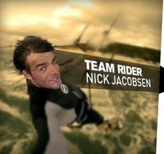Nick Jacobsen, kitesurfer from Denmark