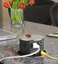 Ditch The Ugly Electrical Wall Sockets In Those Occasional Use Kitchen  Spaces. Popup Power And Communication Ports.