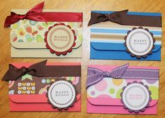 Paper Perfect Designs: Gift Card Holders Tutorial (version 2)