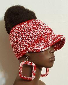 d07eb556f54 Delta Sigma Theta DST Crochet Top Bun Baseball Cap and Earrings by Razonda  Lee Top Bun