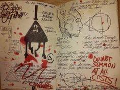 Gravity Falls Journal 3 Replica - Bill Cipher Page by garrenn