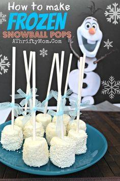 Frozen Party Ideas, Disney Frozen Snowball Pops, Frozen Party, #Frozen, #Disney