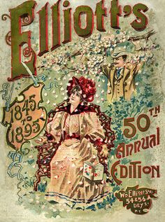 Vintage Crate, Can Labels and Seed Packets -  Elliott's 1895 50th Annual Edition