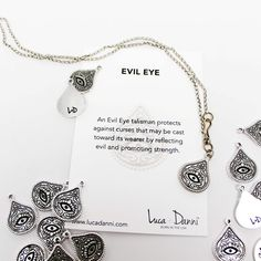 Evil Eye Luca and Dani necklace. #strength #embracethejourney