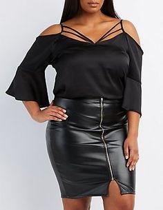 Plus Size Little Black Dresses: Lace & More | Charlotte Russe ...