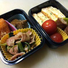 ベーコンと小松菜の炒めもの/ツナ・トマト・ブロッコリーのサラダ 2014/08/23