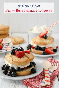 All American GF Berry Buttermilk Shortcakes
