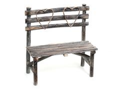 Shabby Chic Wooden Love Seat
