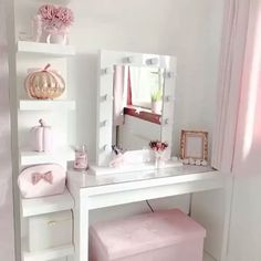Doesnt jadiespinkbliss dressing room featuring our Julia Hollywood Mirror look pretty in pink Makeup Mirror with Lights Dressing Table Mirror with Lights Vanity Mirror with Lights Illuminated Makeup Mirror Light Up Makeup Mirror Hollywood Mirrors Lights Around Mirror, Makeup Mirror With Lights, Lighted Vanity Mirror, Wall Mirror, Mirror Work, Cute Room Decor, Room Decor Bedroom, Mirror Bedroom, Ikea Bedroom