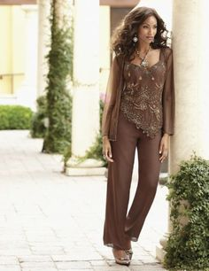 Copper Beaded Pant Set from Midnight Velvet® www.midnightvelvet.com  Confident Style. Beautiful You.