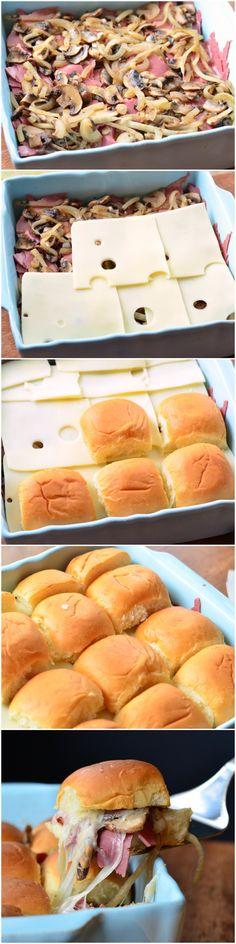 Slider Sandwiches, Appetizer Sandwiches, Sandwiches For Lunch, Appetizer Recipes, Appetizers, Baked Corned Beef, Corned Beef Recipes, Breakfast Lunch Dinner, Breakfast Recipes