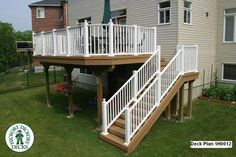 I want to for the back of our house!  Deck plans | Deck Plan #1H0012 | DIY Deck Plans