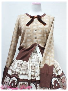 AP Melty Royal Chocolate Knitted Cardigan in ivory