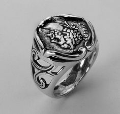 R01329 SHABLOOL ISRAEL Didae Vintage Coin 925 Sterling Silver Ring Sz. 6 7 8 9 #Shablool #Band