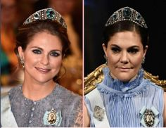"204 gilla-markeringar, 6 kommentarer - Swedish Royal Family (@svenskakungligt) på Instagram: ""Bernadotte Sisters. Crown Princess Victoria of Sweden at the Nobel Prize 2017 and her sister…"""