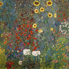 Gustav Klimt - Garden with Sunflowers