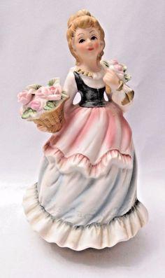 Musical Figurine Girl Dr Zhivago Laras Theme Somewhere My Love Bisque Japan Vtg