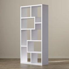 Cube Bookcase Organizer Mid Century Modern Style Bookshelves White Wood H Cool Bookshelves, Cube Bookcase, Etagere Bookcase, Bookcases, Modern Bookcase, Bookcase Storage, Wood Shelves, Display Shelves, Glass Shelves